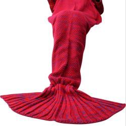 Fleece Crochet pour adultes et enfants de toutes les saisons de couchage Couverture de la queue de sirène