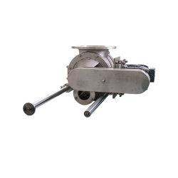 Fábrica de China una limpieza rápida Blow-Sealed eléctrico giratorio de acero inoxidable de la válvula de extracción de polvo