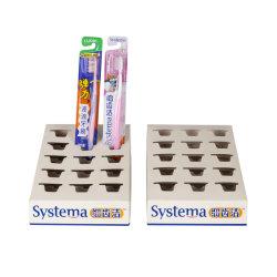 Impression de logo un par un blanc dans la boîte Boîte d'affichage de brosse à dents