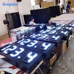مؤشر LED لأسعار زيت البنزين مقاومة للماء بحجم 12 بوصة 22 بوصة مقاومة للماء شاشة العرض الرقمية