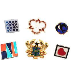 BSCI fabrikmäßig hergestelltes kundenspezifisches Metalldecklack-Abzeichen-Reverspin-Goldemblem für Geschenk/Förderung