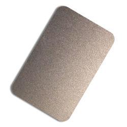 Prix compétitif plaque en acier inoxydable 304 1219X2438mm PVD colorée Noir or Rose bronze sablage plaque de cuisine matériel d'électroménager décoratif Plaque