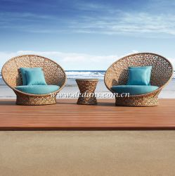 프로방스 Outdoor Wicker Woven Lounge Chair 또는 Sofa & Side Table