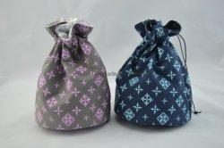 Lienzo de algodón bolsa de regalo de moda bolsa bolsa de cosméticos cordón
