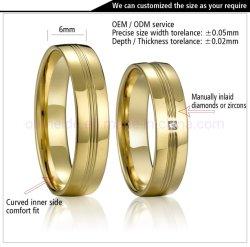 Chaud nouveau produit couple mode cadeau personnalisé Bijoux de cuivre