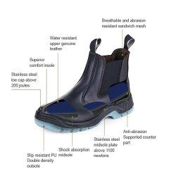 Mj-106 Fashion modelo S1p couro Calçado marcação EN20345
