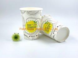 Coupe du papier biodégradable PLA Papier tasse de café chaud Distributeurs automatiques de la conception de la cuvette de papier personnalisé 7oz 6oz compostable PLA Vending PLA Tasse à café en papier jetables