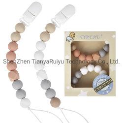 食品グレードのシリコーンの Pacifier クリップ BPA 自由な赤ん坊のダミーの Pacifier チェーン( Chain )