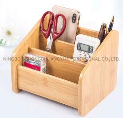 Telefone móvel/ porta-canetas de armazenamento de bambu de madeira para decoração de Desktop