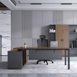 현대적인 멜라민 L Shape Boss 테이블 홈 이그제큐티브 상업용 나무 컴퓨터가 있는 가구 사무실 책상