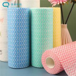 Factory Wholesale Easy Use betaalbare wegwerpbare schoonmaakdoekjes voor huishoudelijk gebruik Droge Wipe Rolls Spunlace Dry Wipes Cleaning