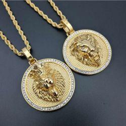 Diseño moderno Collar artesanal de oro y plata