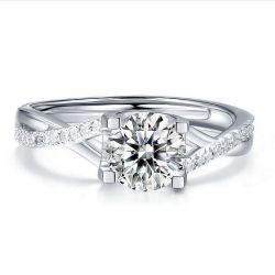 Comercio al por mayor anillos de boda de alta calidad plata 925 joyas de diamantes Moissanite