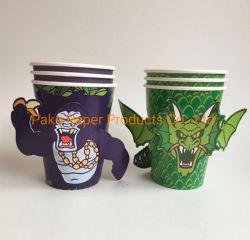 Parte da capa de papel Animal 3D DIY Halloween festa de aniversário de copos de papel chávena de café em vidro DIY Copa do papel