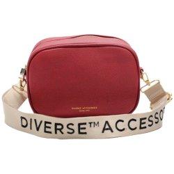Saco de ombro elegante bolsa de lazer do corpo transversal quadrado vermelho Saco com fecho de correr