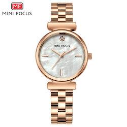 Mini-l'accent nouveau design moderne entièrement automatique Diamond Quartz étanche montre-bracelet pour vendre à Shenzhen en usine à chaud