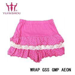 Garota de moda de algodão personalizados/Rapaz/criança/Kids/bebê/Crianças Fullprint Malha Malha Curto Lace Pants vestuário de marca do grupo