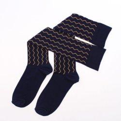 High-Quality Mercerized хлопка шаблон кривой носки колена