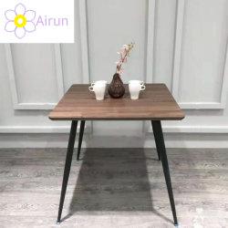 Venda por grosso moderna italiana simples conjunto de sala de jantar de estilo quadrado Retângulo ao redor da mesa de jantar em madeira de nogueira de luxo de luz mesa de jantar para uso doméstico