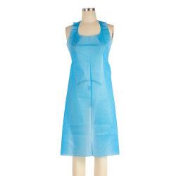 شيف مطبخ شخصي شفاف وواضح بولي Non Medical PE LDPE ملابس واقية من البلاستيك للاستعمال مرة واحدة بدون أكمام