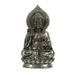 新しい着席の黙想する樹脂の仏の彫像はFengホームShuiハンドメイドの装飾的な表の着く