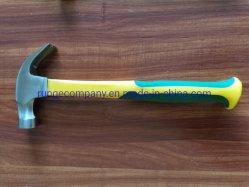 El poder y herramientas de mano de 16 Oz Claw Hammer Magnetic Nail Starter de grano fino acero forjado endurecer la cabeza del eje de fibra de vidrio Pesado Martillo techado