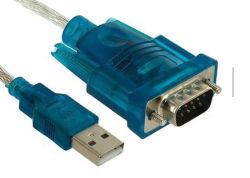 كبل محول محول USB 2.0 شفاف إلى RS232 Serial DB9