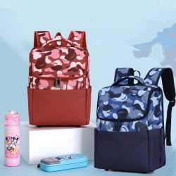UNISEX distributore OEM grossista di alta qualità Unisex Camouflage Splicing Impermeabile Nylon durevole Scuola Stationery forniture borsa studente allievo
