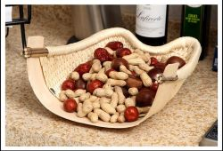 Natürliche Willow Woven Gedämpftes Brot Korb Desktop Candy Plate Snack Korb Oval Dustpan Empfang Korb Wicker Produkte