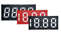 Scheda prezzo olio codice a 7 segmenti magnetico Flip7 utilizzata per la stazione di servizio