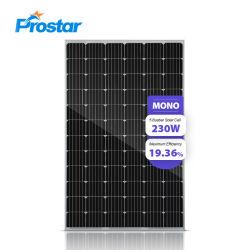 230W monokristalline Solarmonokristalline Solarbaugruppe der baugruppen-230wp installiert auf Haus-Dach