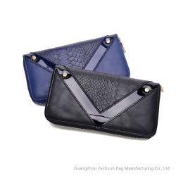 Novo Design de crocodilo Wallet Estilo longo com guarnição de Correspondência de PVC maleável Multifuncional Wallet (BC8303-12)