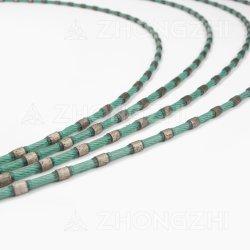Único de plástico do perfil de diamantes da Serra de fio de pedra mármore