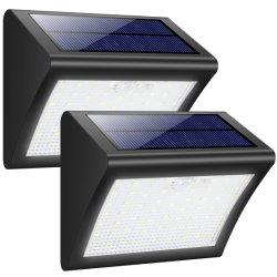 熱い販売60 LEDの無線防水動きの屋外の太陽電池パネル動力を与えられたランプセンサーの緊急のホーム壁ライト