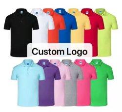 شعار مخصص تي شيرتس للبيع الساخن أزياء الرياضة ارتداء بالجملة رخيصة ملابس رجالي قمصان من القطن جيرزي نساء طباعة قميص بولو