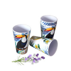 Padrão de tucano Caneca Melamina Impresso Personalizado chávenas de chá