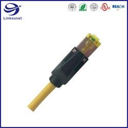 Faisceau de fils de l'équipement de communication avec les connecteurs de prise modulaire de longueur personnalisée