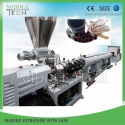 円錐対ねじ、単一ねじ押出機が付いている機械生産ラインを作る高速プラスチックUPVC-CPVC-PVC-PE-PPR-WPC管かプロフィールまたはシート