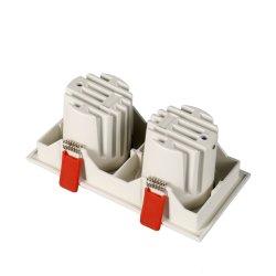 2*10W Twin jefes en el techo, lámparas de foco LED cuadrada