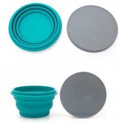 食品等級の卸売のマイクロウェーブ折るシリコーンボールのサラダボール