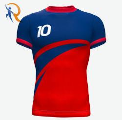 Hoogtepunt over Voetbal rtm-019 van Jersey van het Voetbal van de Naam van het Team van de Douane van Jersey van het Voetbal van de Druk van de Sublimatie Digitale Eenvormige