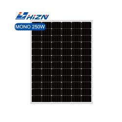 Hizn سعر رخيصة النظام الشمسي اللوحة الكهروضوئية 250W 255 وات 245 وات 230 واط 72 خلية أحادية اللون