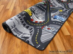 Diseño de carretera oscura alfombra alfombra de juegos para niños ventas Non-Slip impermeable