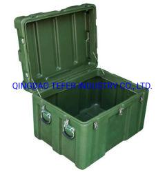 회전식 몰딩 알루미늄 플라스틱 컨테이너 견고한 군사 장비 박스 아미 녹색 Rotomolded 케이스