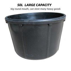 소몰이 사수 기르는 공구 구조용으로 사용되는 50L 고무 버킷 고무 버킷을 둥글게 하는 공구 호스 피더