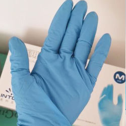 Pó de suprimentos médicos Free Medical Exame Azul Luvas de nitrilo descartáveis