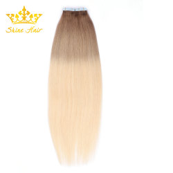 Двойной обратить Virgin человеческого волоса PU ленту человеческого волоса добавочный номер