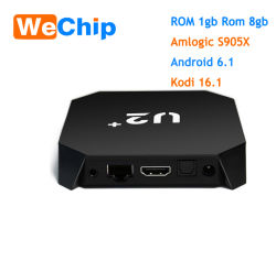 Amlogic S905X Android 7.1 Android TV Box U2+ Desde Joinwe 1+8GB