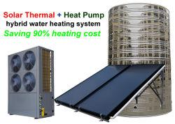 Haute efficacité et de la chaleur solaire thermique hybride de la pompe à eau à des fins commerciales du système de chauffage central d'alimentation en eau chaude