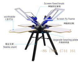 TM-R4d'un manuel 4 Couleur Carousel T-Shirt Machine d'impression de l'écran